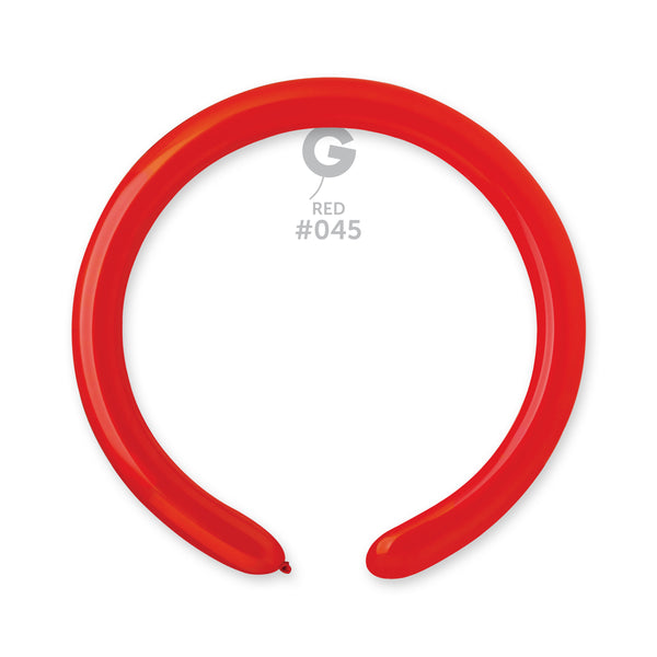 Solid Balloon Red D4(260)-045 | 50 balloons per package of 2'' each