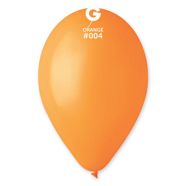 Solid Balloon Orange G110-004 | 50 balloons per package of 12'' each
