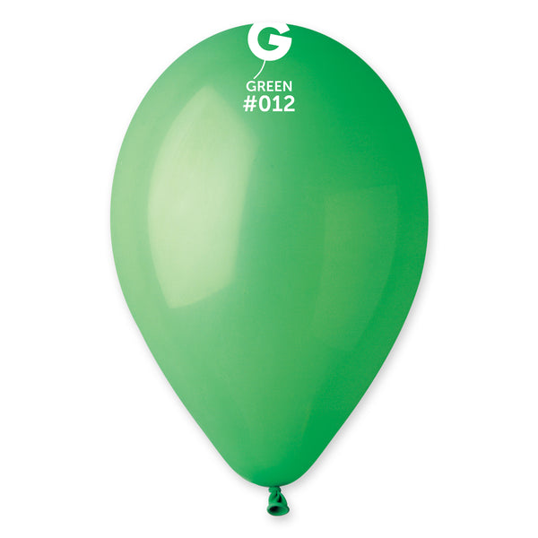 Solid Balloon Green G110-012 | 50 balloons per package of 12'' each