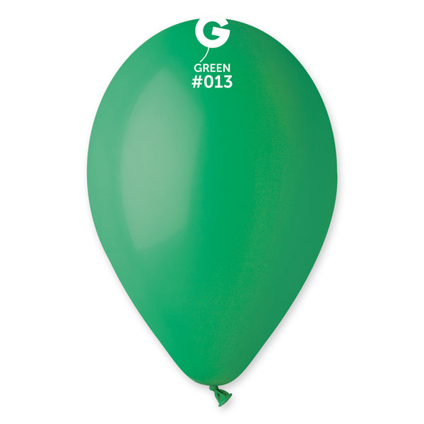 Solid Balloon Green G110-013 | 50 balloons per package of 12'' each