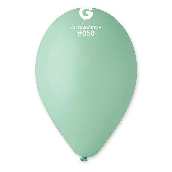 Solid Balloon Aquamarine G110-050 | 50 balloons per package of 12'' each