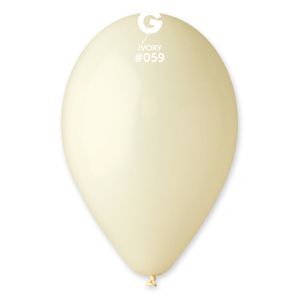 Solid Balloon Ivory G110-059 | 50 balloons per package of 12'' each