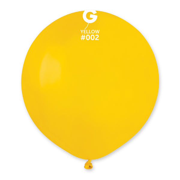 Solid Balloon Yellow G150-002 | 25 balloons per package of 19'' each