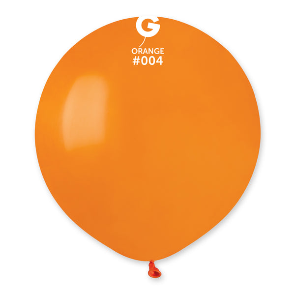 Solid Balloon Orange G150-004 | 25 balloons per package of 19'' each