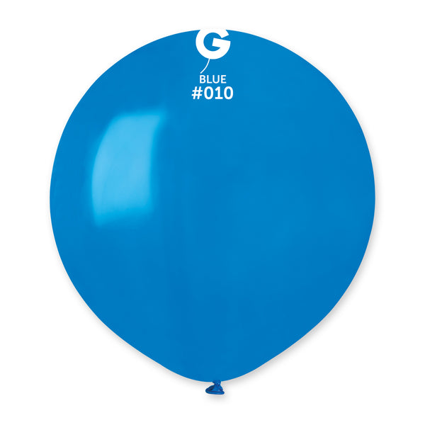 Solid Balloon Blue G150-010 | 25 balloons per package of 19'' each