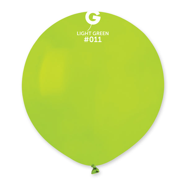 Solid Balloon Light Green G150-011 | 25 balloons per package of 19'' each