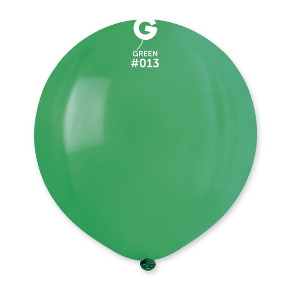 Solid Balloon Green G150-013 | 25 balloons per package of 19'' each