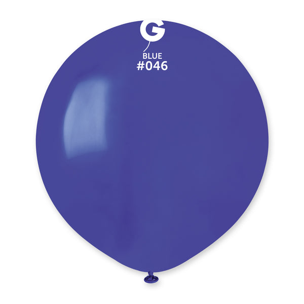 Solid Balloon Blue G150-046 | 25 balloons per package of 19'' each