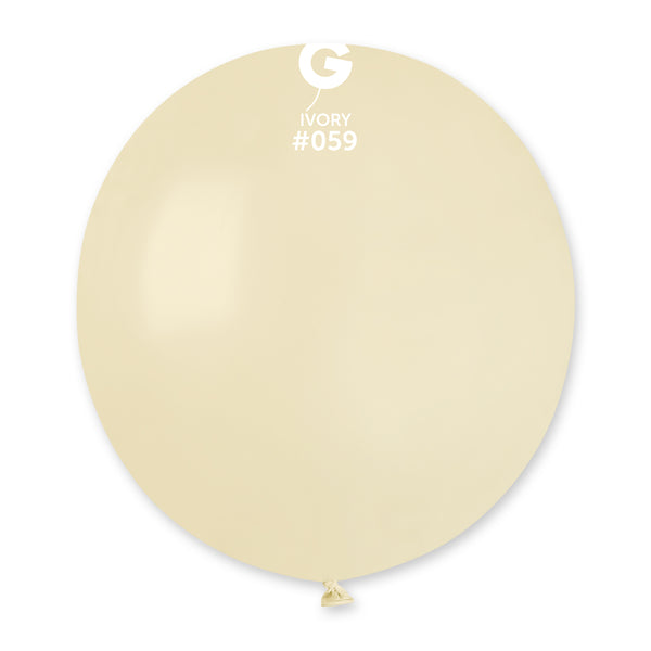 Solid Balloon Ivory G150-059 | 25 balloons per package of 19'' each
