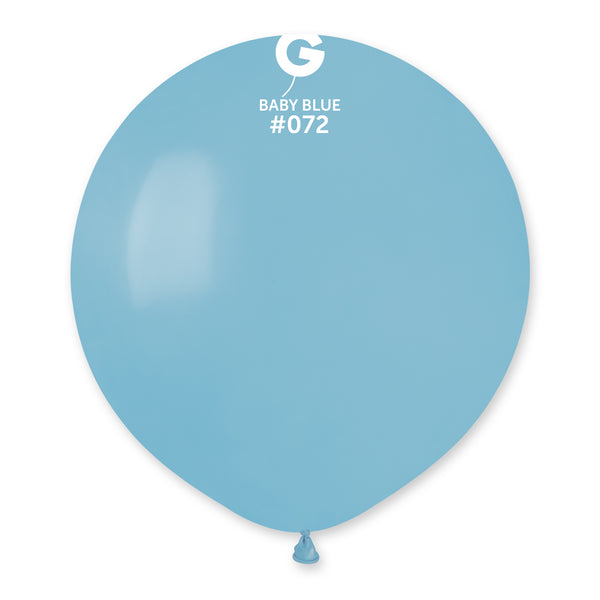 Solid Balloon Baby Blue G150-072 | 25 balloons per package of 19'' each