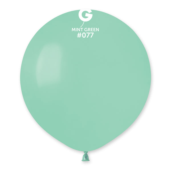 Solid Balloon Mint Green G150-077 | 25 balloons per package of 19'' each