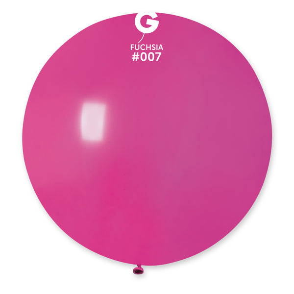 Solid Balloon Fuchsia G30-007 | 1 balloon per package of 31''