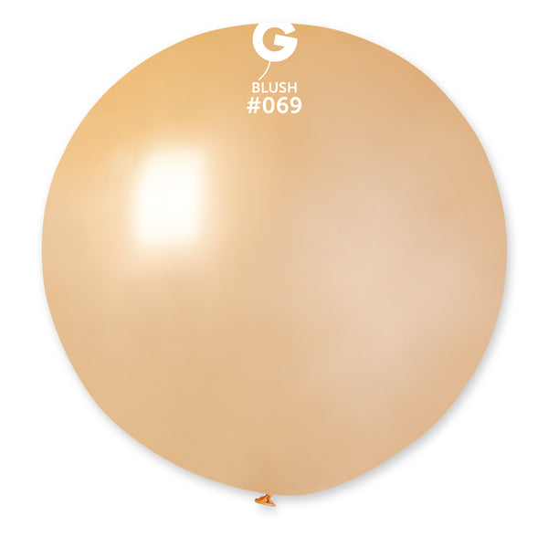 Solid Balloon Blush G30-069 | 1 balloon per package of 31''