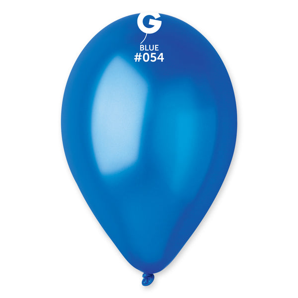 Metallic Balloon Blue GM110-054 | 50 balloons per package of 12'' each