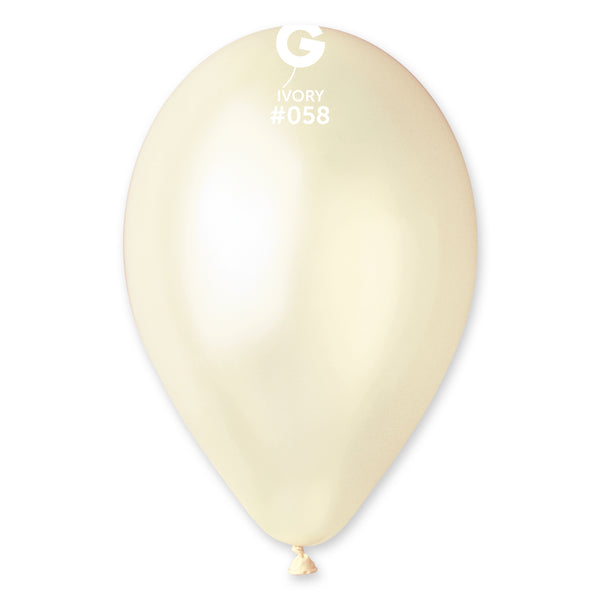 Metallic Balloon Ivory GM110-058 | 50 balloons per package of 12'' each