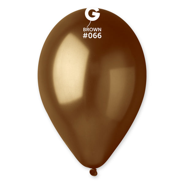 Metallic Balloon Brown GM110-066 | 50 balloons per package of 12'' each