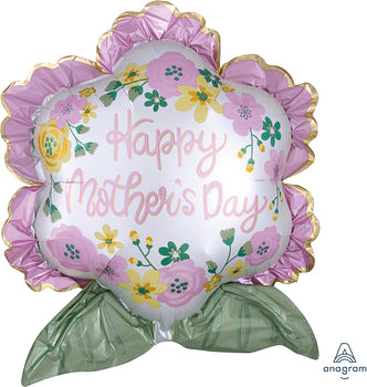 Happy Mothers's Day Satin Flowers