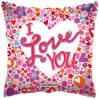 "I Love You Mosaic Clear View 18"" single pack"