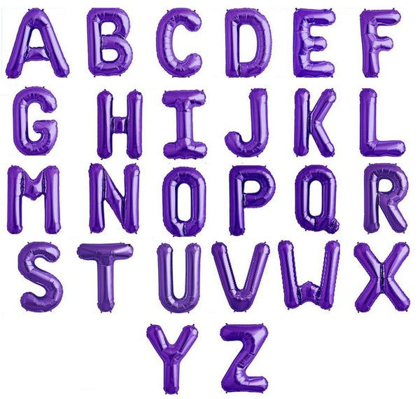 "Letter A to Z Purple -14"" in (choose your Letter)"