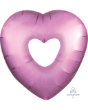 "Satin Open Heart Foil Balloon - 26"" in each (Choose your color)"