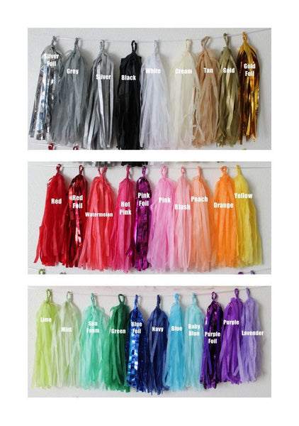 Balloon Tassel Garland ( Choose your Color )