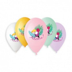 Aloha Toucan Balloon GS120-786 | 50 balloons per package of 13'' each