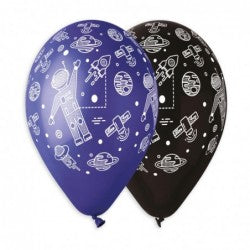 Astronaut In Space Printed Balloon GS120-836-842 | 50 balloons per package of 13'' each