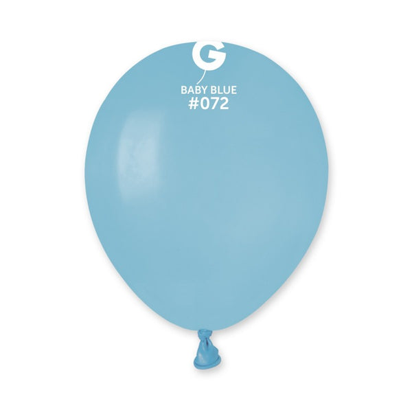 Solid Balloon Baby Blue A50-072  | 100 balloons per package of 5'' each