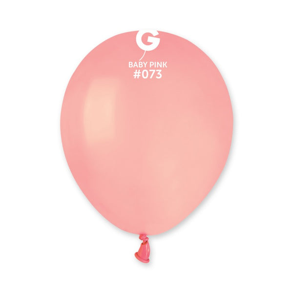 Solid Balloon Baby Pink A50-073  | 100 balloons per package of 5'' each
