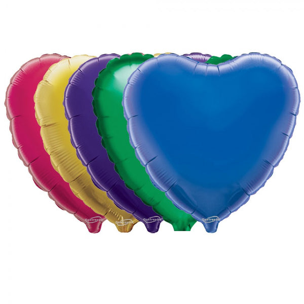 "5 Heart Shaped Foil Balloon 4"" Package (Choose your color)"