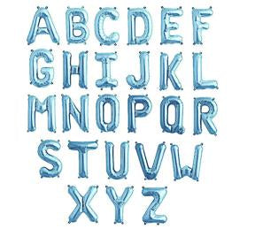 "Letters A to Z Blue Foil Balloon - 14"" in each. (Choose your letter)"