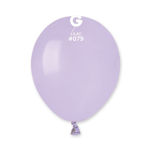 Solid Balloon Lilac A50-079  | 100 balloons per package of 5'' each