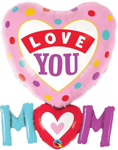 Love You Mom Heart Dots