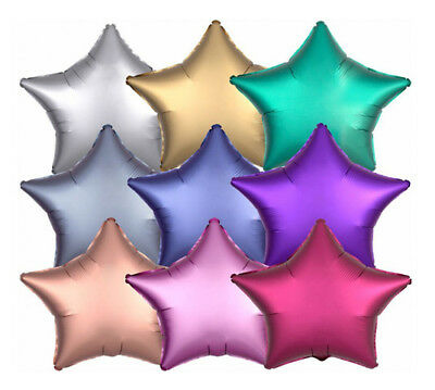 "2 Satin Star Shaped Foil Balloon 18"" Package (Choose your color)"