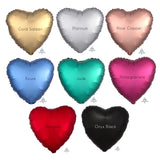 "2 Satin Luxe Heart Anagram 18"" (Choose Your Color)"