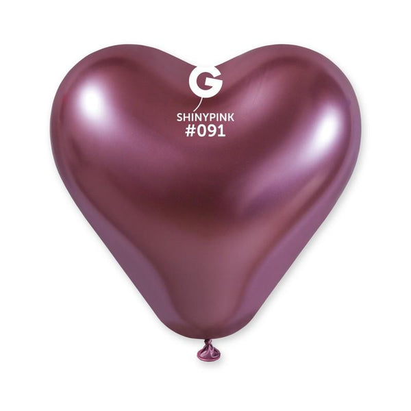 Shiny Pink Heart Shaped Balloon 12 in.