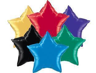 "2 Star Shaped Foil Balloon 18"" in each (Choose your color) Flat"