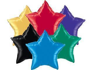 "5 Pack Star Shaped Foil Balloon 9""  (Choose your color) Flat"