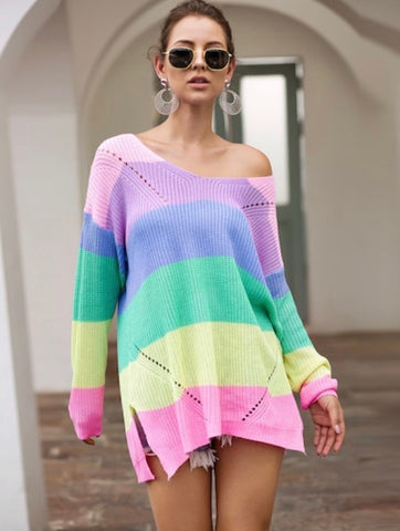 BE HAPPY SWEATER (RAINBOW)
