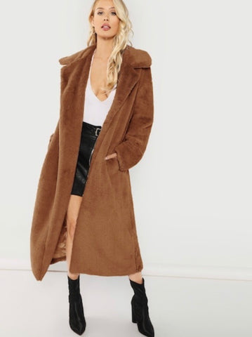 TEDDY COMFY COAT (BROWN)