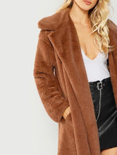 Load image into Gallery viewer, TEDDY COMFY COAT (BROWN)