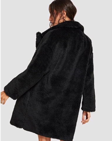 TEDDY COMFY COAT (BLACK)