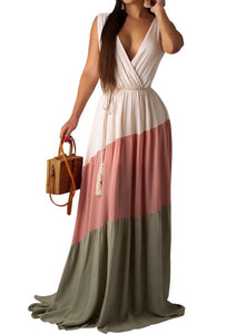 EVENING OUT MULTI-COLOR MAXI DRESS