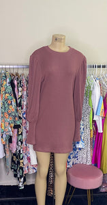 ANGELINE DRESS (MAUVE )