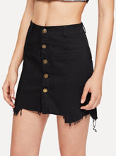 Load image into Gallery viewer, FRAY HEM DENIM SKIRT - RoyalRaine