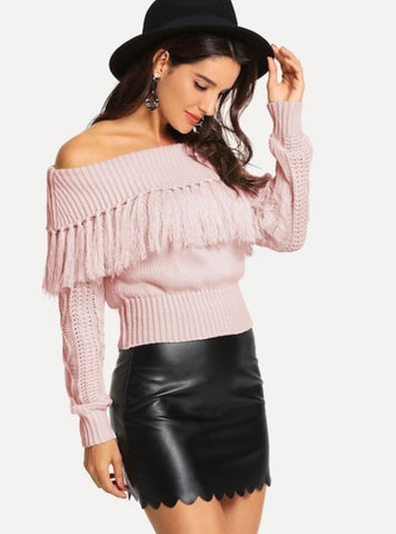 Feisty Fringe Sweater - RoyalRaine
