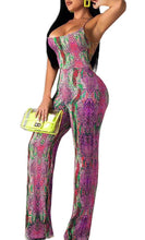 Load image into Gallery viewer, SNAKE PRINT JUMPSUIT