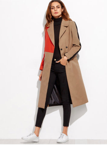 Color Block Coat - RoyalRaine