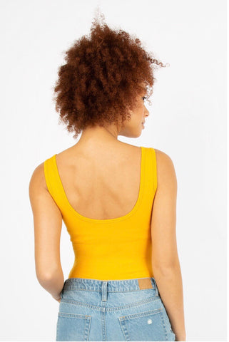 YELLOW RAINBOW TANK BODYSUIT