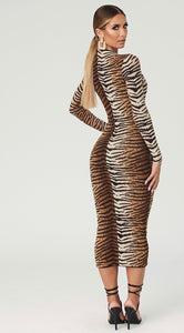 CADENCE TIGER STRIPES DRESS